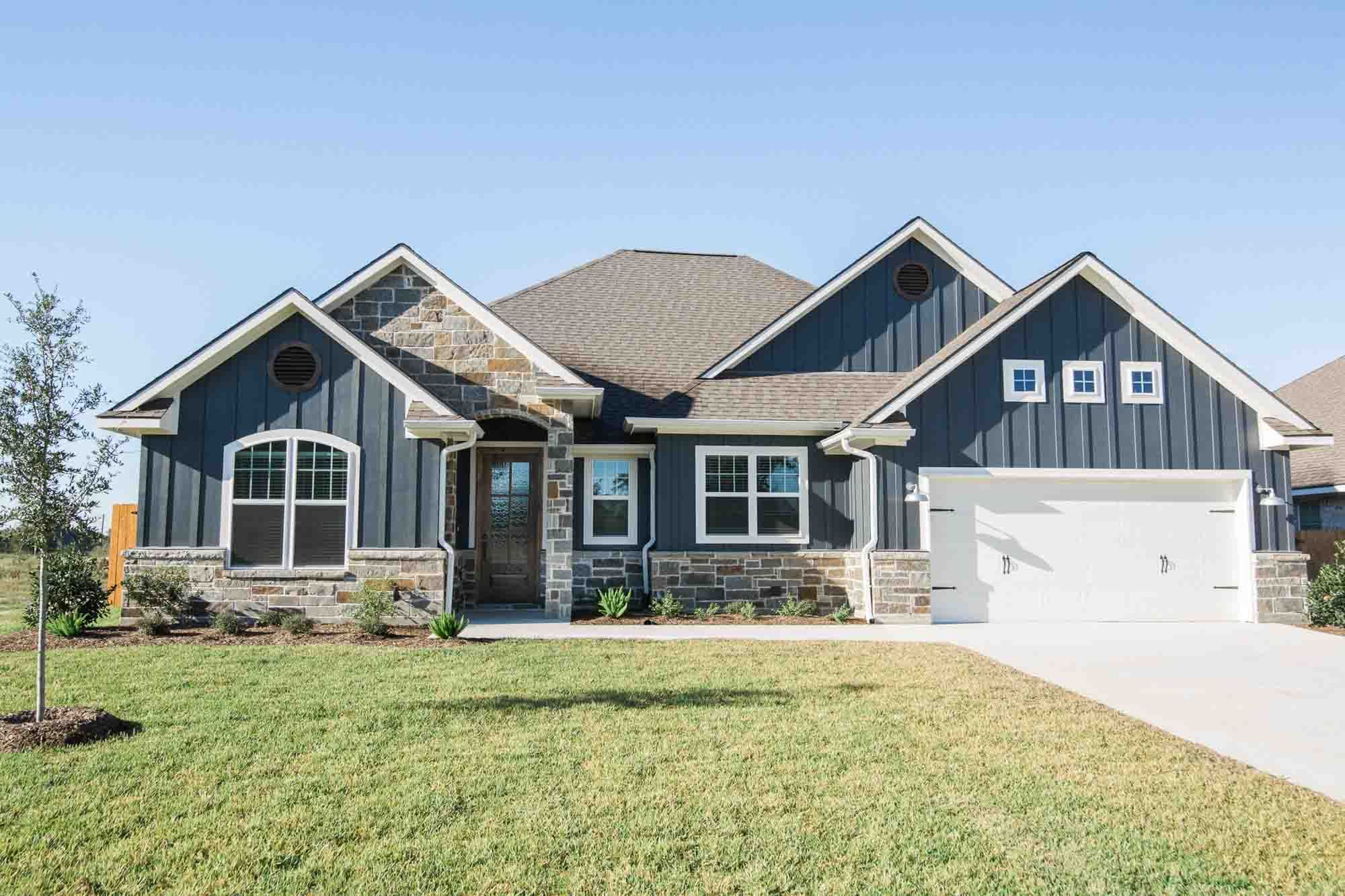 Blue ranch style home inspiration in 2020   Ranch style ... on contemporary house exterior designs, rambler with front of garage, ranch house exterior designs, colonial home exterior designs, custom house exterior designs, split level house exterior designs, ivory home designs,