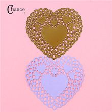 Metal Heart Shape Cutting Dies Stencil For DIY Scrapbooking Album Paper Card Craft(China (Mainland))