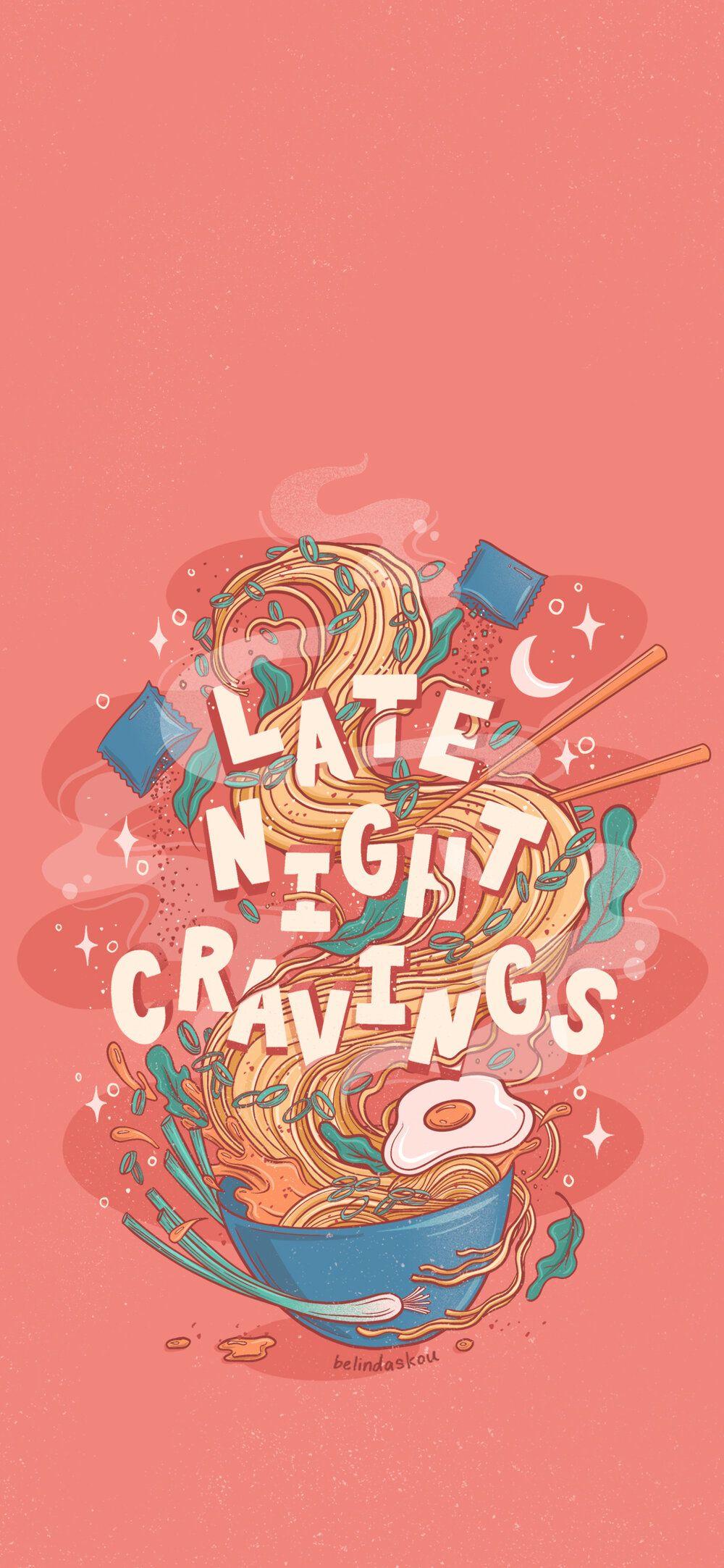 Late Night Cravings Ramen Phone Wallpaper Anime Wallpaper Phone Cute Cartoon Wallpapers Cute Wallpapers