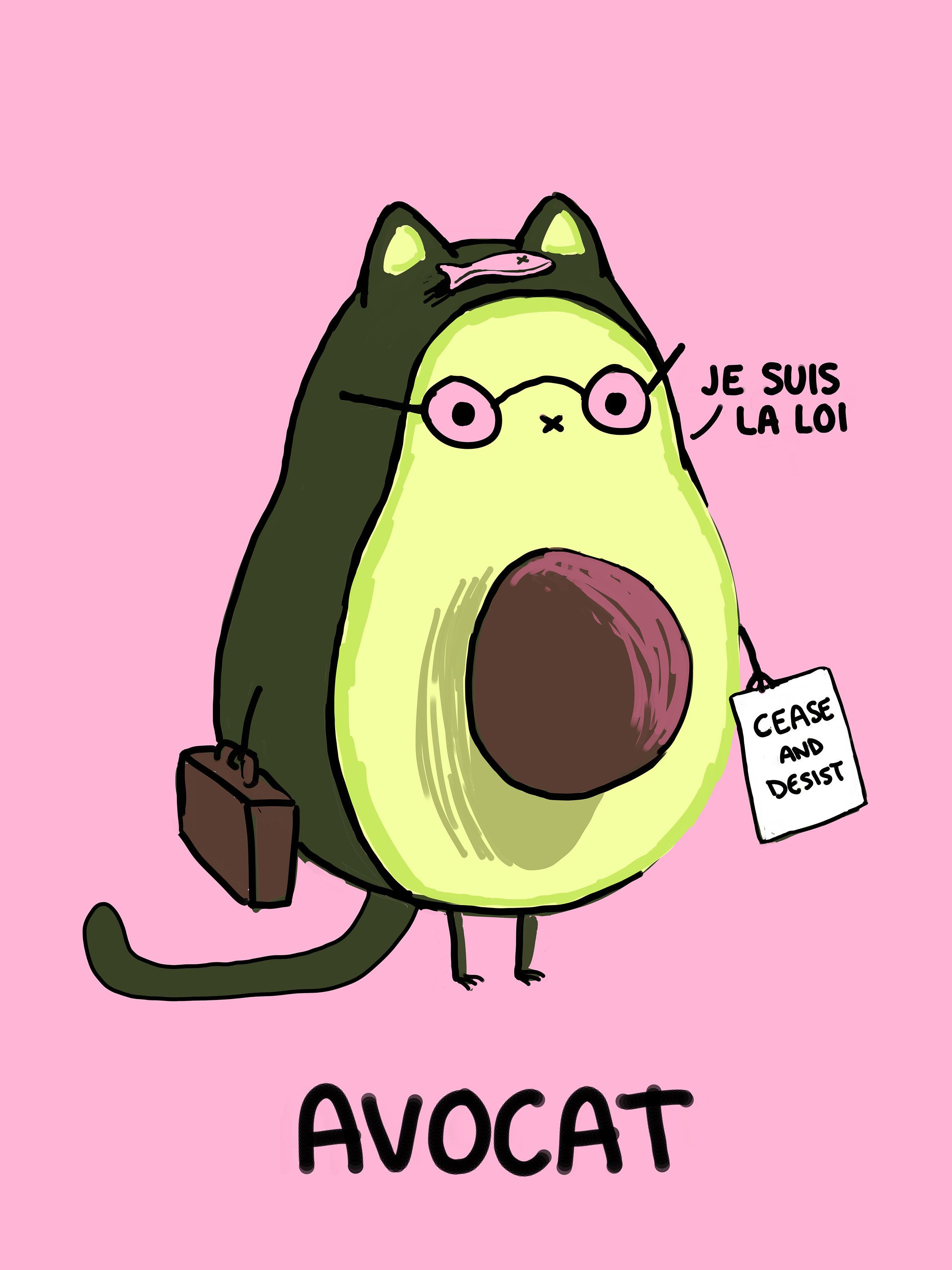 Avocat V 20 French Food Lawyer Pun Art Print Learning French For