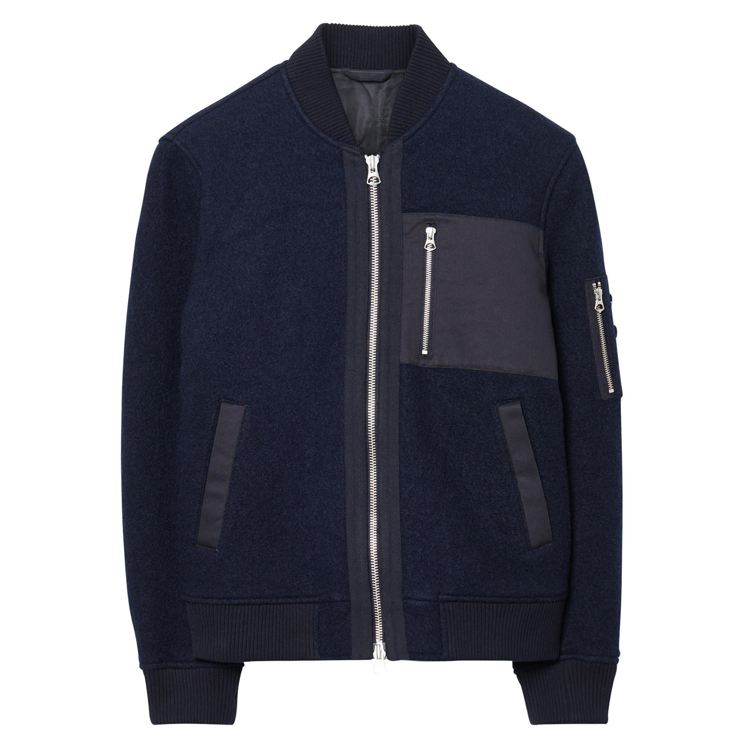 GANT Rugger: Blue Wooly Bomber Jacket Men's   GANT USA Store ...