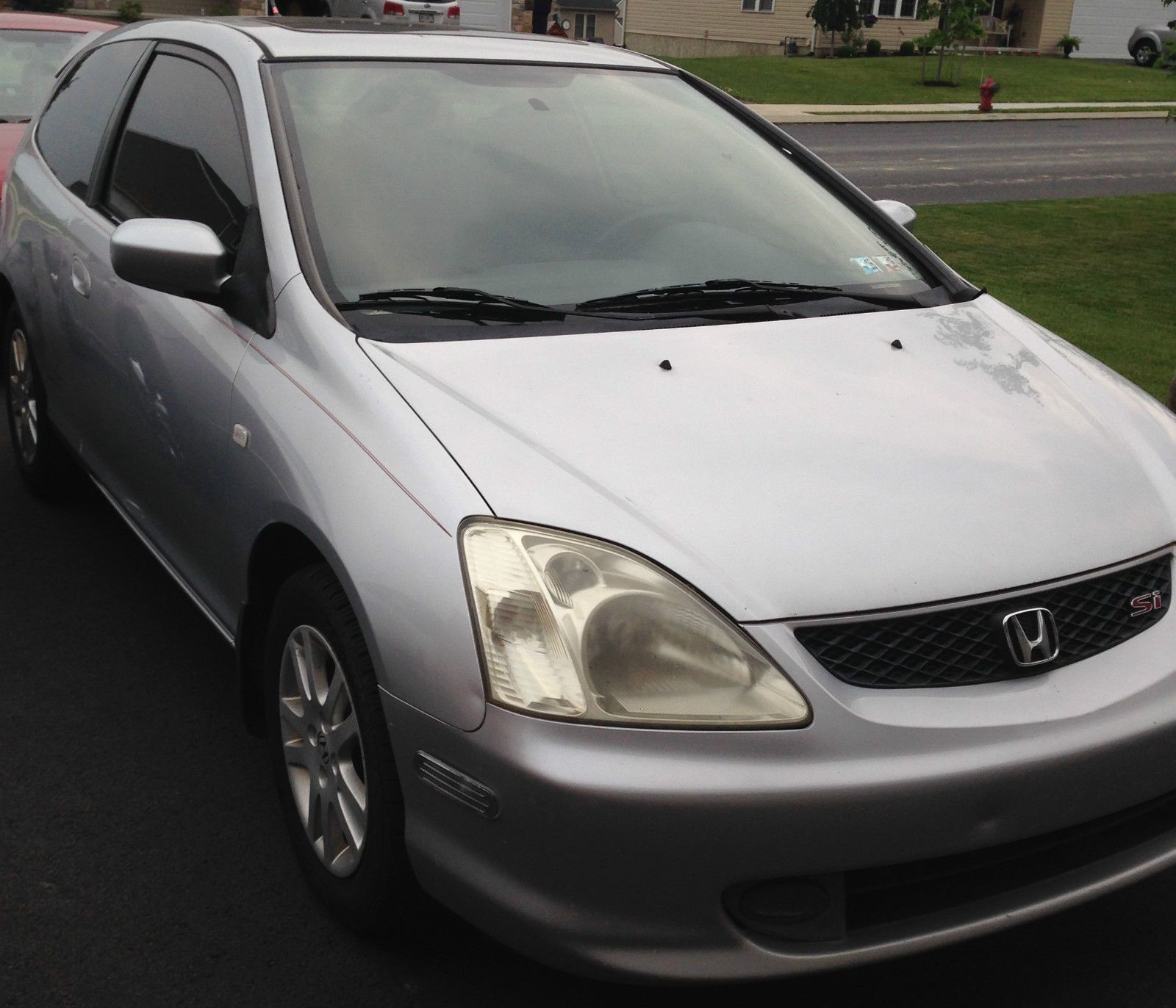 Car Brand Auctioned Honda Civic Si Hatchback 3 Door 2002 Car Model Honda Civic Si V Tech Hatchback Auctio Honda Civic Si Hatchback Honda Civic Si Honda Civic