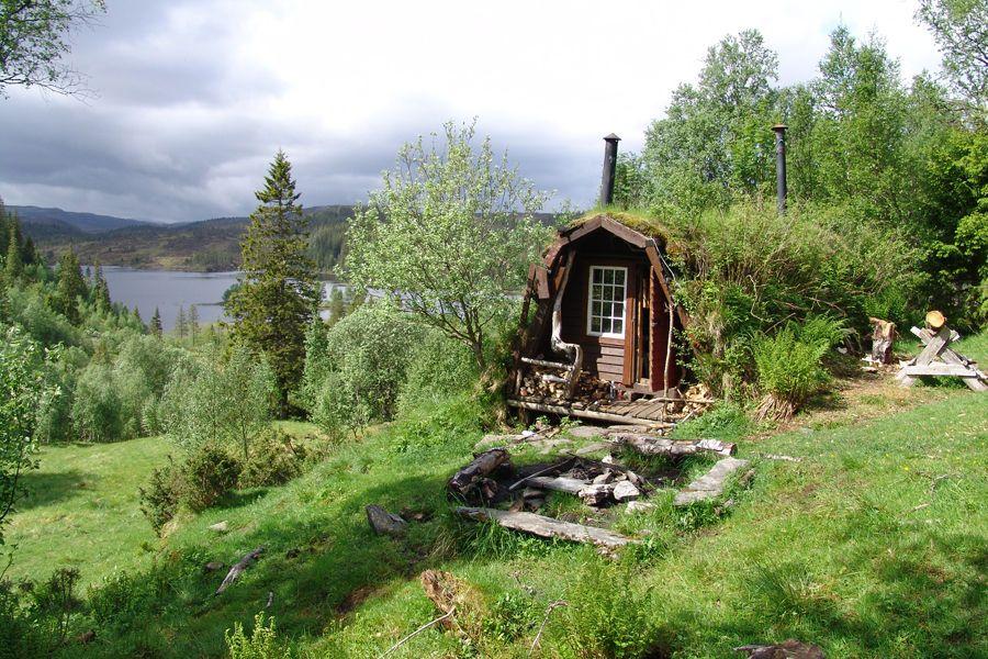 Norwegian Koie Little Cabin Kleine Hütten Winzige