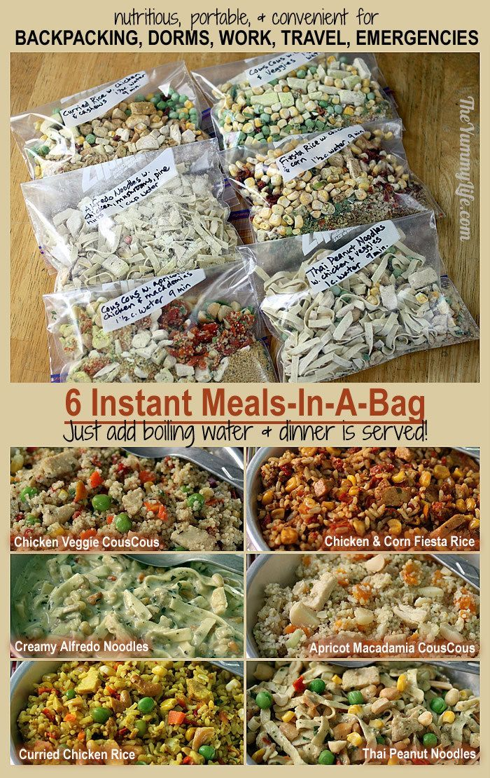 6 Instant Meals On The Go Just Add Boiling Water Hiking Food Instant Recipes Backpacking Food