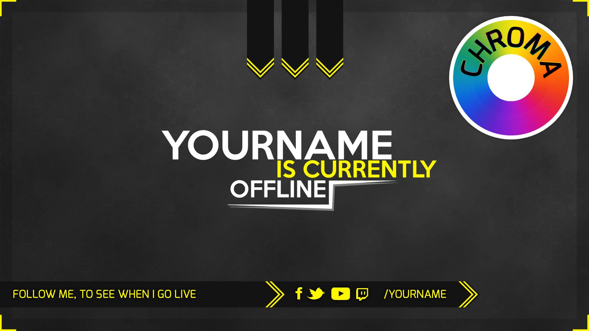Alpha Twitch Offline Screen With Psd Template Download Also For