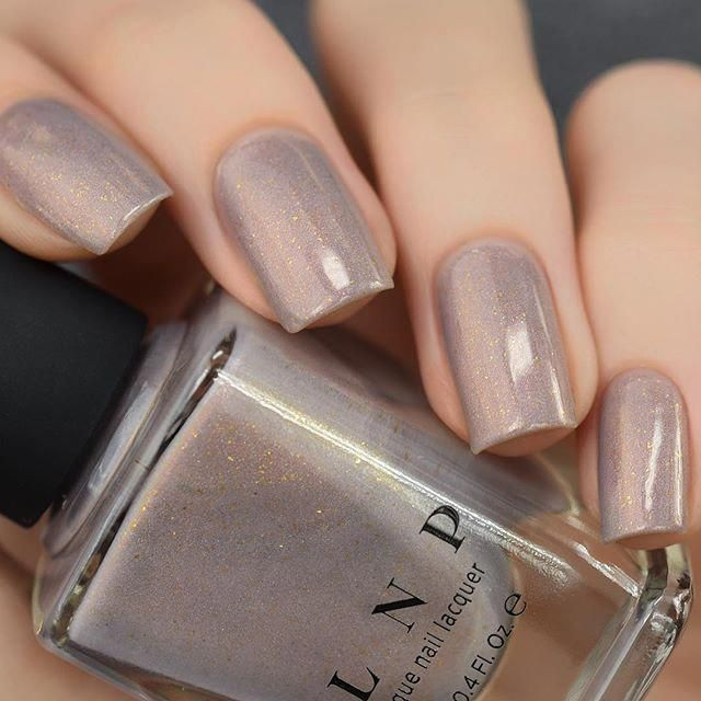 Long Walks - Shimmery Taupe Holographic Nail Polish by ILNP