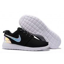 promo code 25bfe bad5f Nike Roshe Run Mesh Black White Hologram Iridescent Shoes