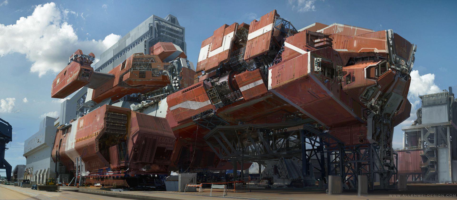 ArtStation - Red-Flame-ship, Allen wei