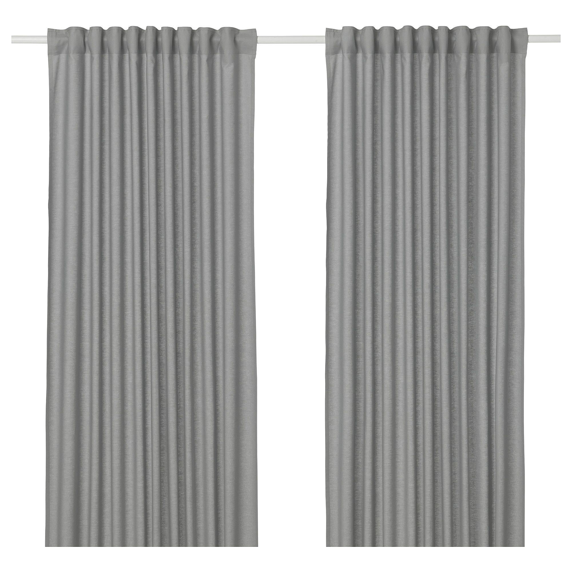 Ikea Annalouisa Gray Curtains 1 Pair Curtain Rods Curtains