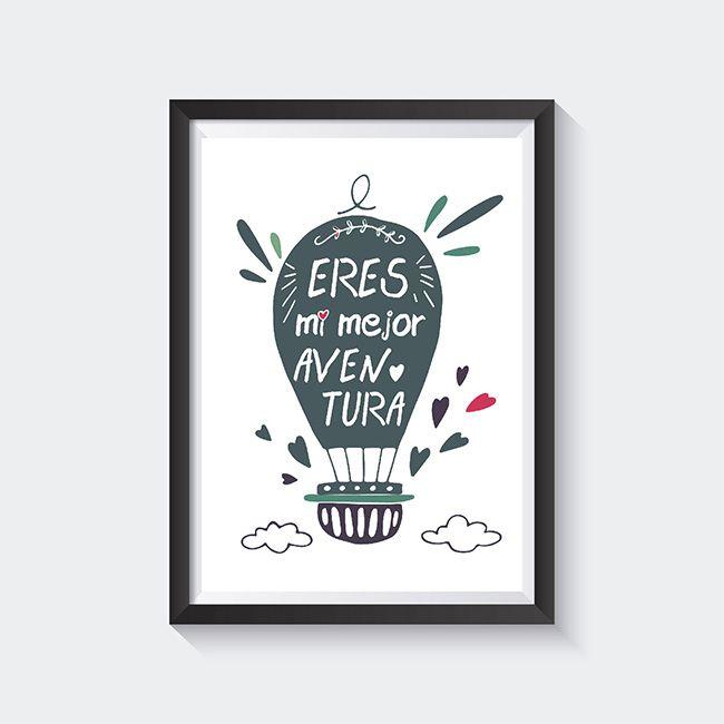 lamina imprimible gratis san valentin eres mi mejor aventura laminas para