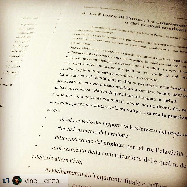 #Repost via #Instagram (Grazie per la foto @vinc__enzo_!)  #unipegaso #economia #marketing #sport #ihaveadream