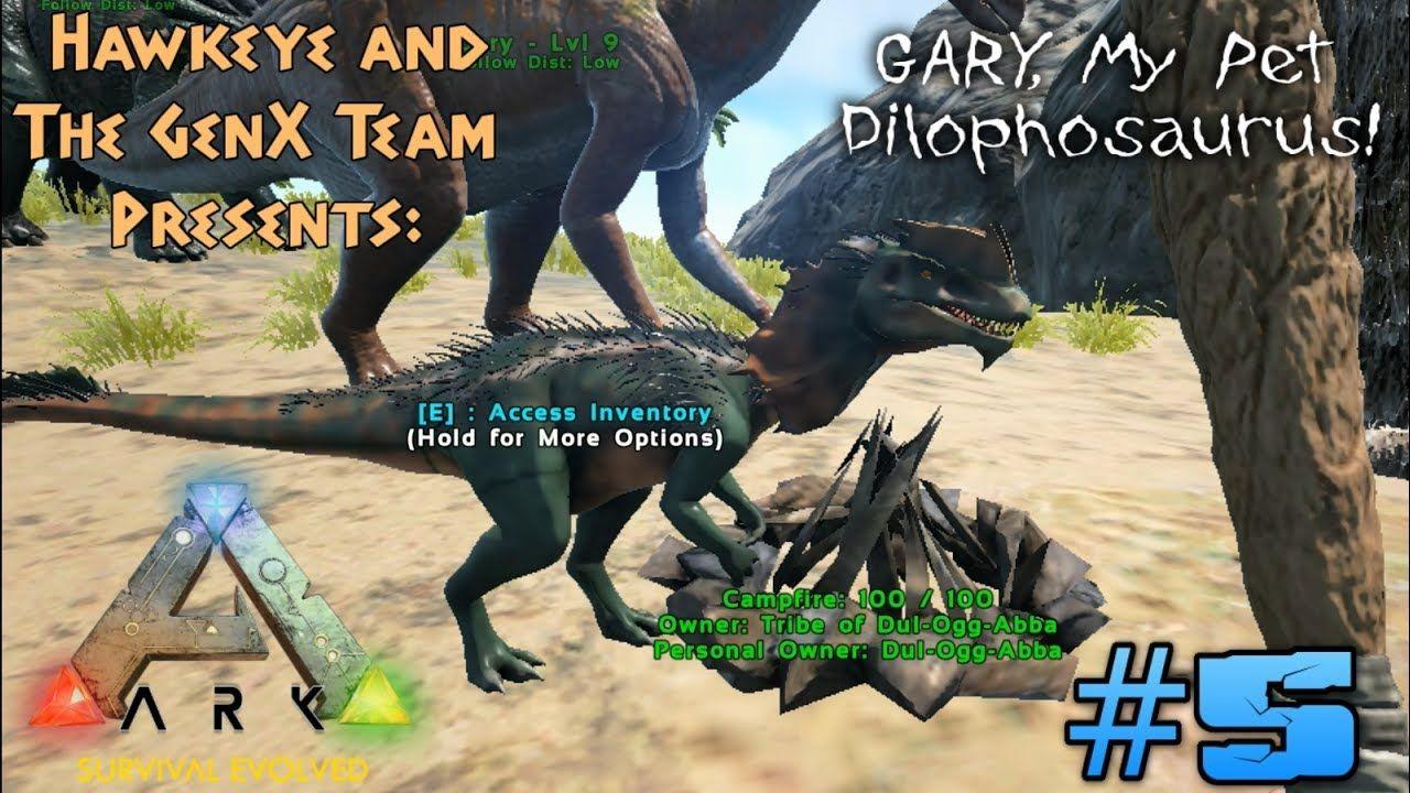Ark Survival Evolved Multiplayer 5 Gary My Pet Dilophosaurus Ark Survival Evolved Dilophosaurus Survival