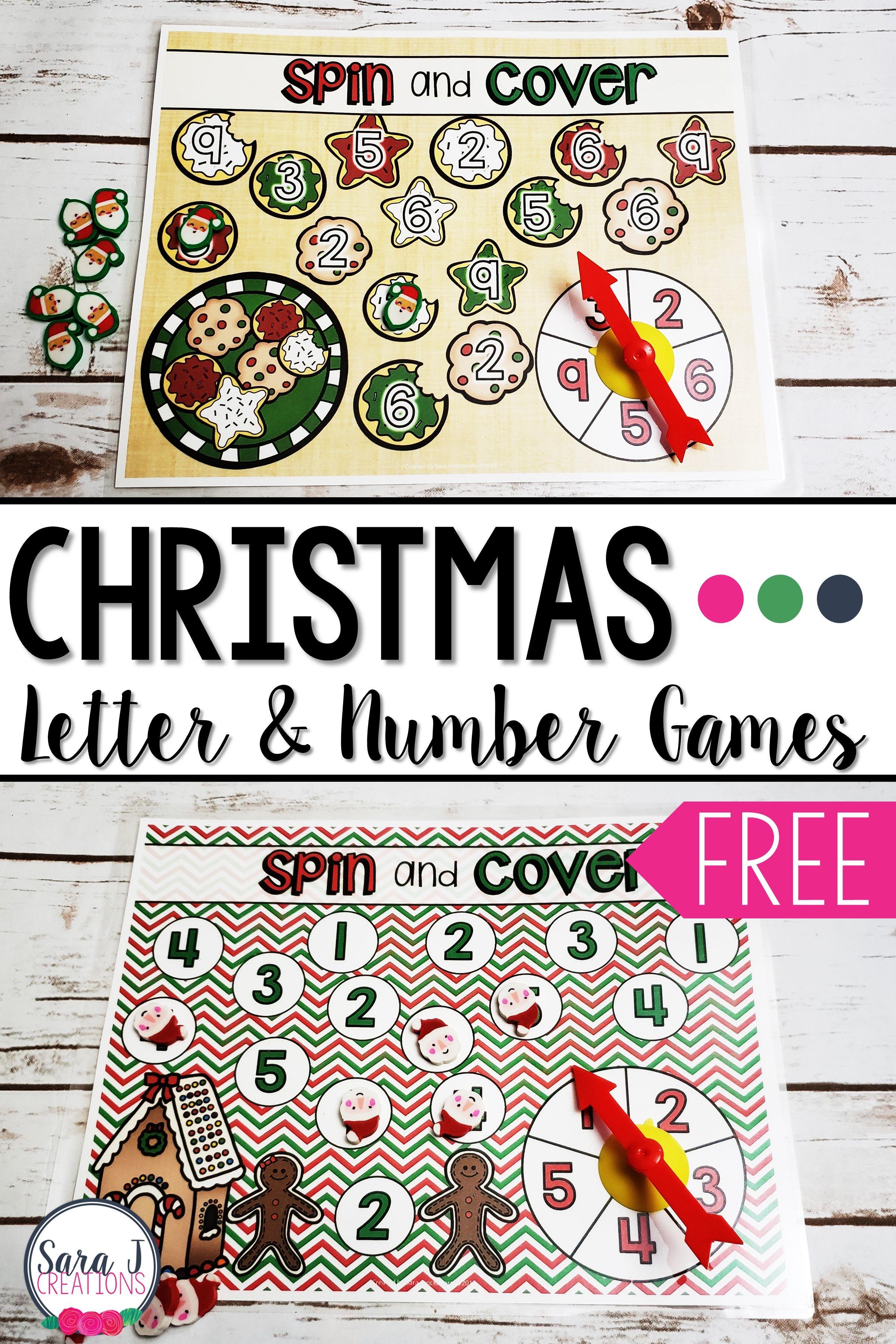 Christmas Math Amp Alphabet Games Freebie