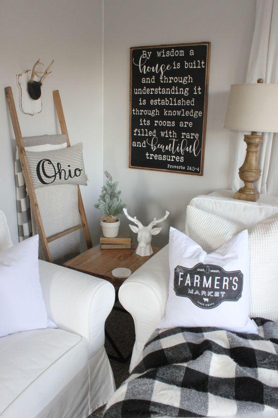 Best Winter Farmhouse Decorating Ideas Farmhouse Interior 400 x 300