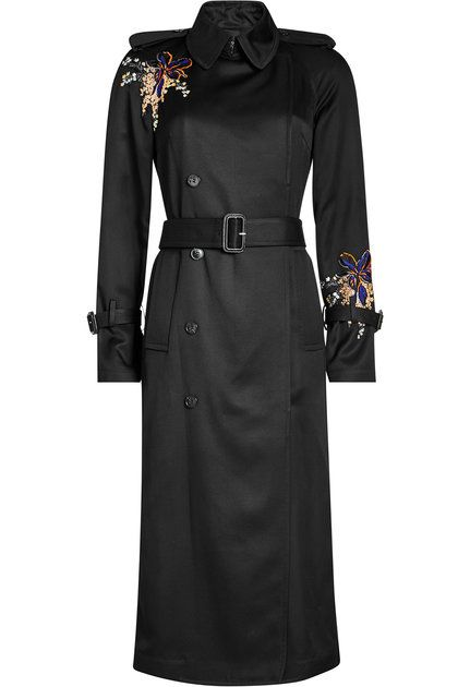 Embroidered Crepe Trench Coat | Victoria Beckham