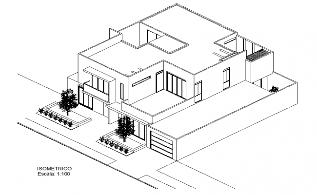 Isometric House View Plan Dwg File Open House Plans House Viewing Architecture House