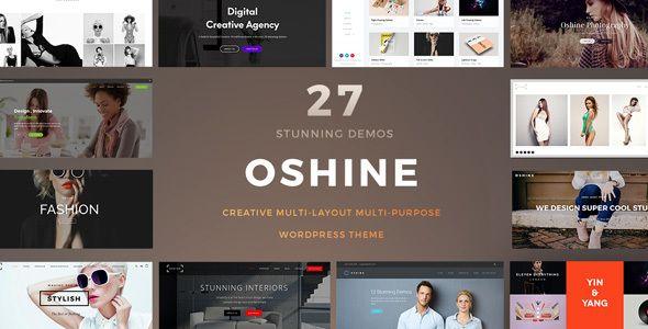 Oshine es un popular y creativo tema de WordPress utilizado por más ...