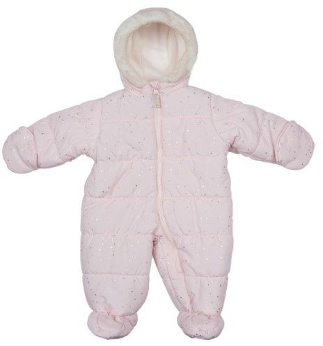 1890d87cf Carter s Infant Girls Quilted Light Pink Snowsuit Baby Pram Snow ...