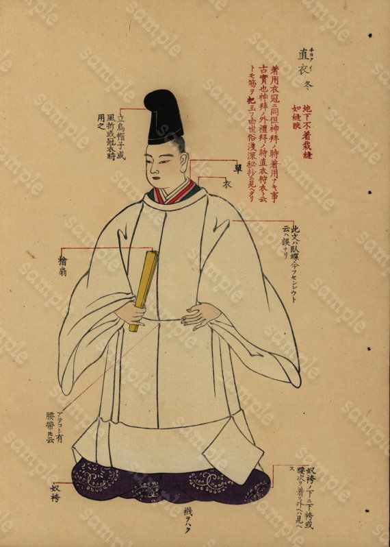 Original  Antique Japanese Hand colored woodblock by RarePostCards