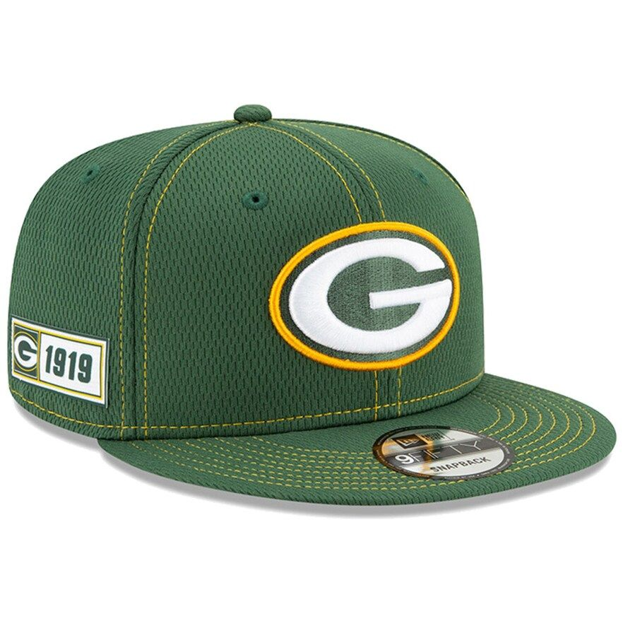 Youth New Era Green Green Bay Packers 2019 Nfl Sideline Road 9fifty Snapback Adjustable Hat Green Bay Packers Green Bay Nfl