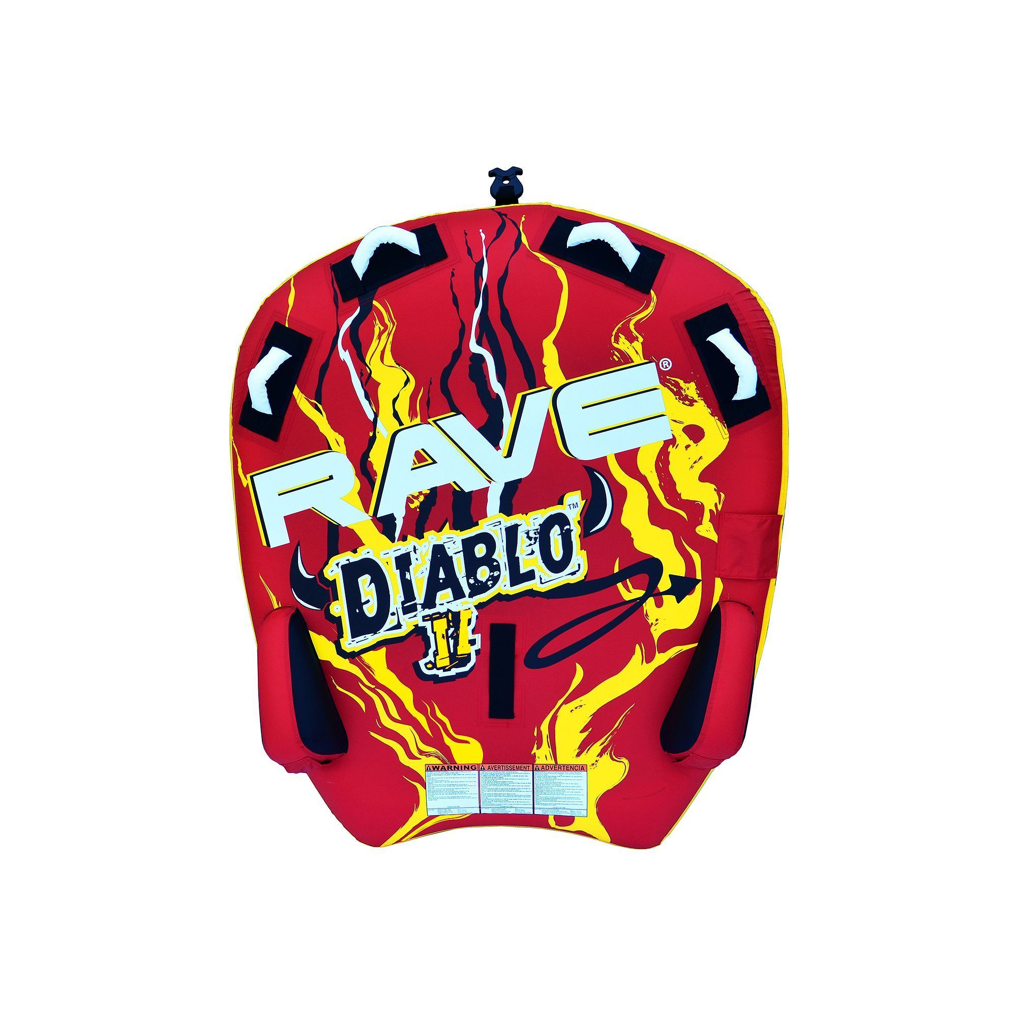 Rave Sports Diablo Ii Towable Inflatable Water Tube Multicolor Towing Harness