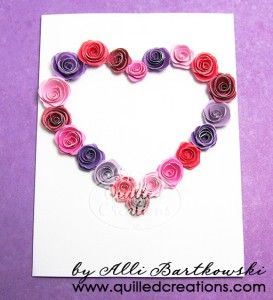 Valentines Day card (Quilling)