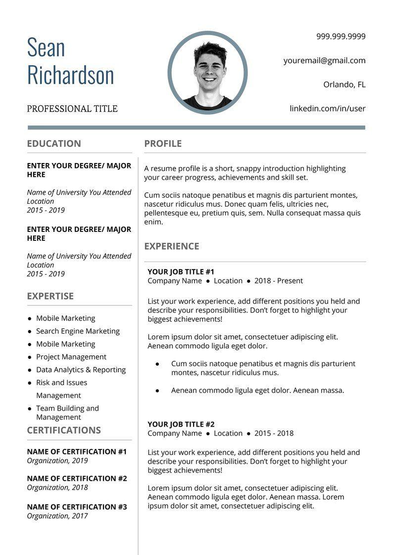 Nurse Resume Template RN Resume Professional Resume Etsy