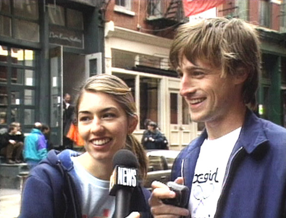 Spike Jonze and then girlfriend Sofia Coppola in the mid