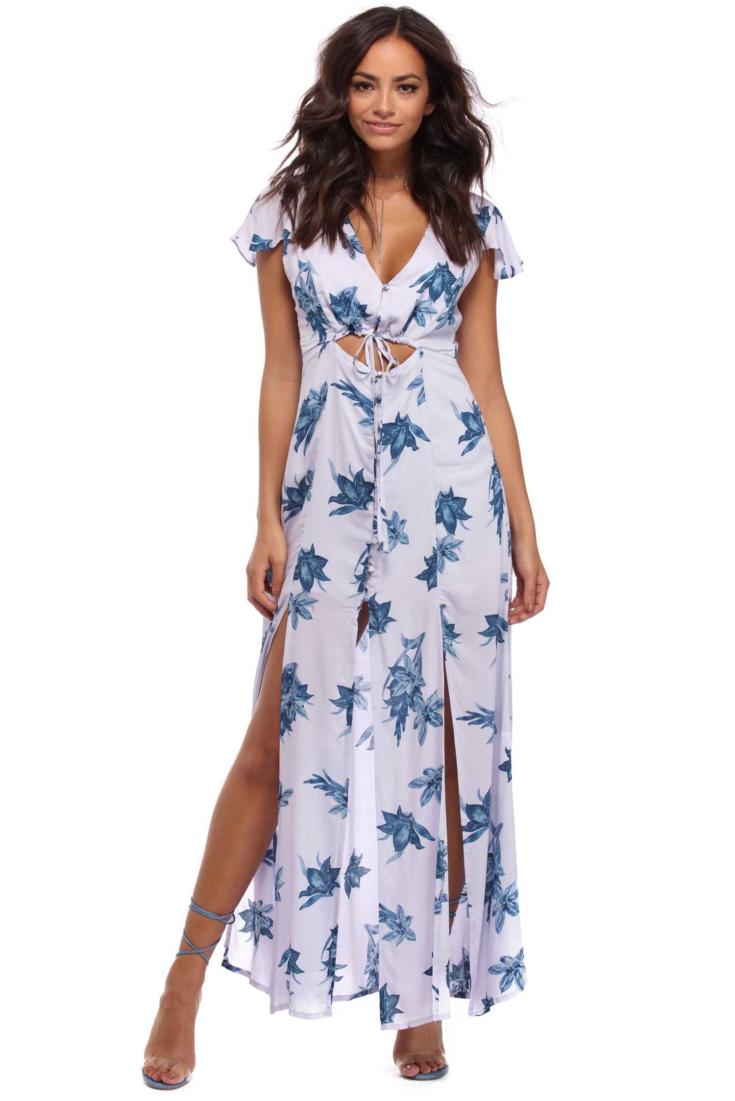 65df20329525 Lavender Floral Pleasure Maxi Dress | windsor | New Arrivals ...
