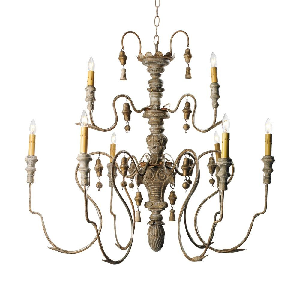 2 Tier Manoir Chandelier A Reminiscent Of Century Italian Design Meticulously Replicated From An Old World Antique This Extraordinary Wooden