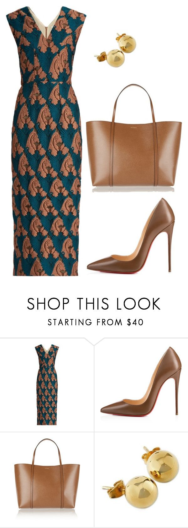"""style theory by Helia"" by heliaamado on Polyvore featuring moda, Emilia Wickstead, Christian Louboutin, Dolce&Gabbana e NOVICA"