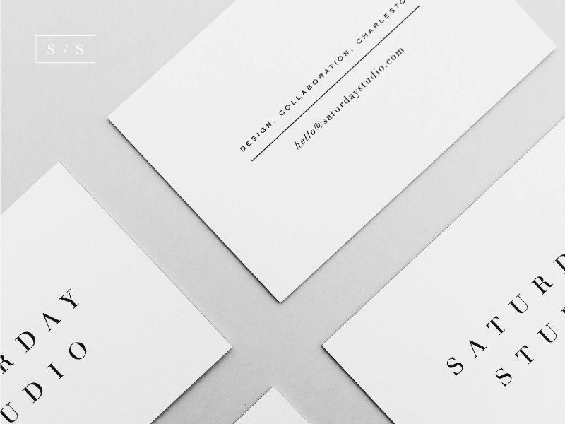Saturday Studio Business Cards Printing Business Cards Business Card Inspiration Business Cards