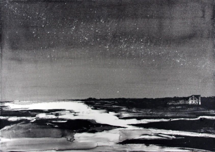 Emma Stibbon RA (b. 1962)Milky Way (Iceland), 2015ink with monoprint, framed38 x 53.5cm.λ Please see our  Conditions of Sale for definitions of cataloguing symbols.