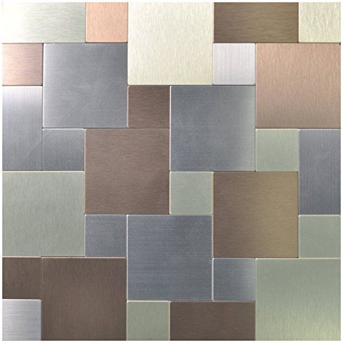 "12X12 Decorative Tiles Prepossessing Art3D 12"" X 12"" Peel & Stick Metal Decorative Wall Tile Puzzle Decorating Inspiration"