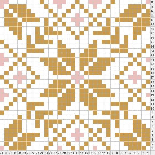 I think this fair isle knitting pattern would make a beautiful ...