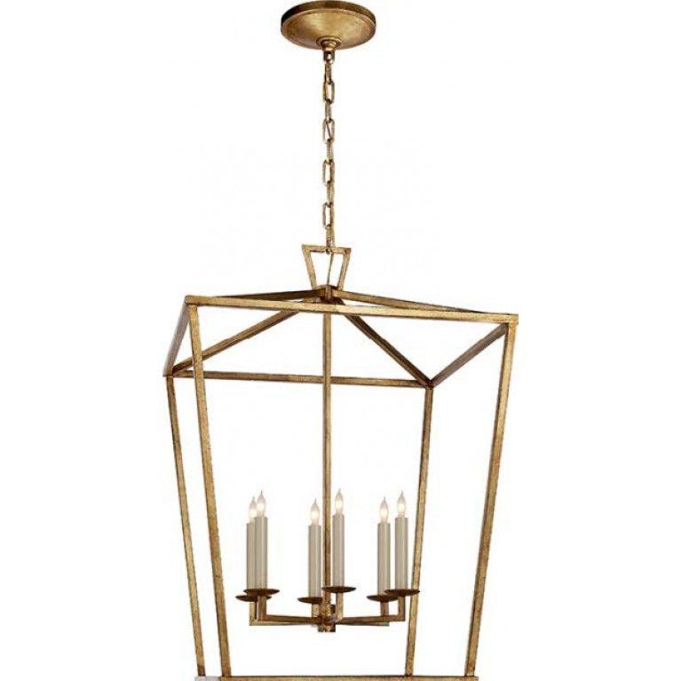 Darlana Large Lantern Gilded Iron