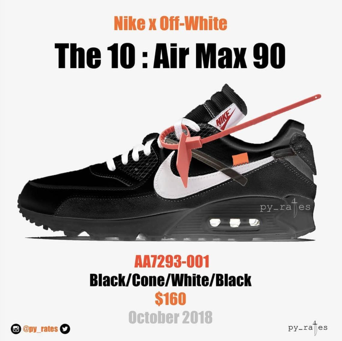 The Ten: Air Max 90 'Black & Cone & White' Release Date