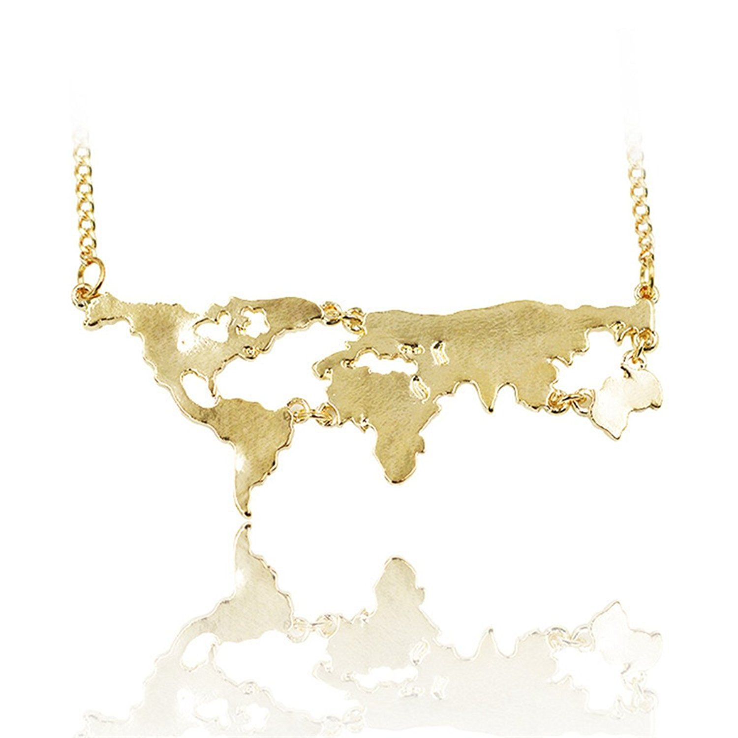 Amazon world continents pendant world map necklace gold amazon world continents pendant world map necklace gold jewelry gumiabroncs Image collections