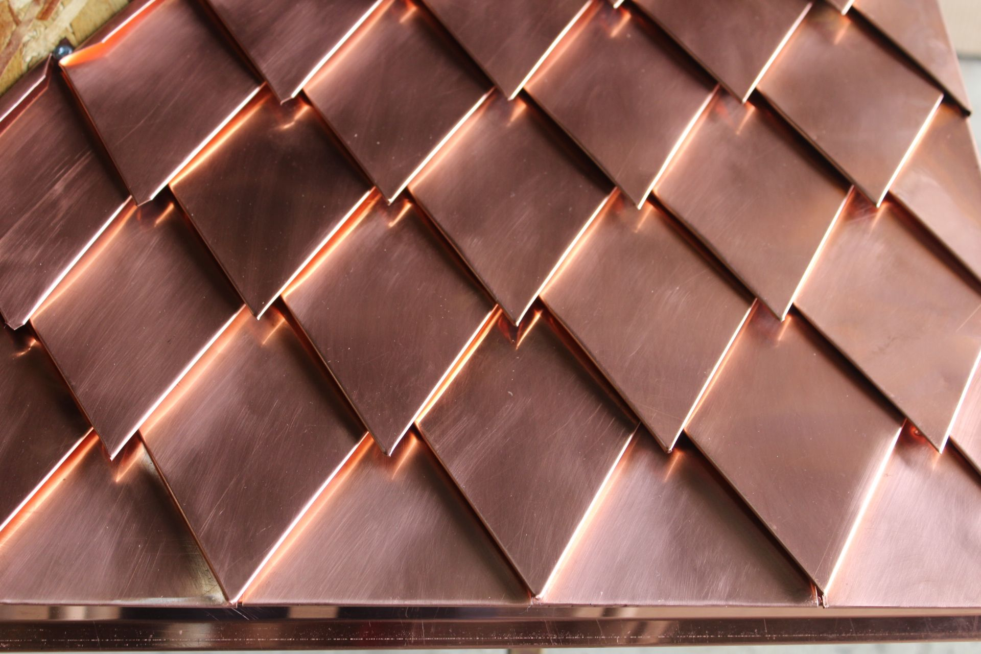 4 X 8 Diamond Shaped Copper Singles Copper Roof Metal Roof Corrugated Metal Roof