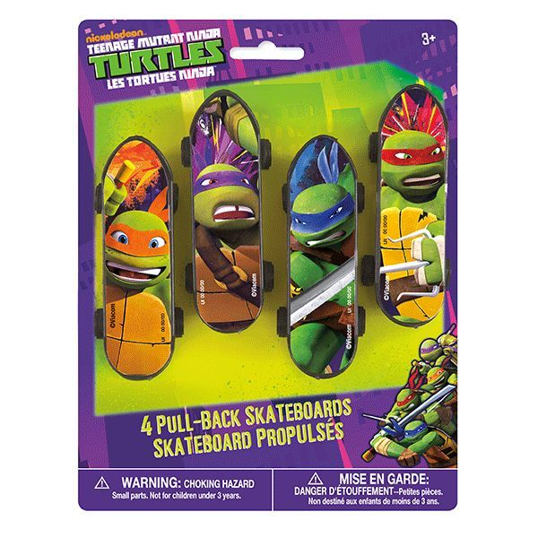 teenage mutant ninja turtles mini skateboards 4ct