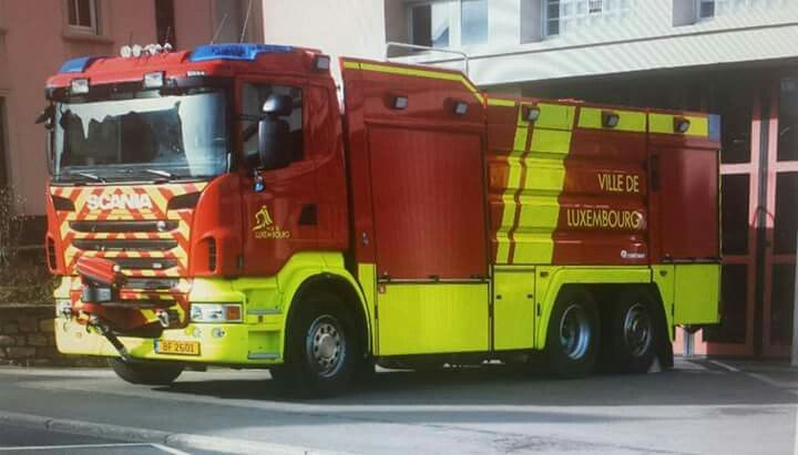 Luxembourg fire engine