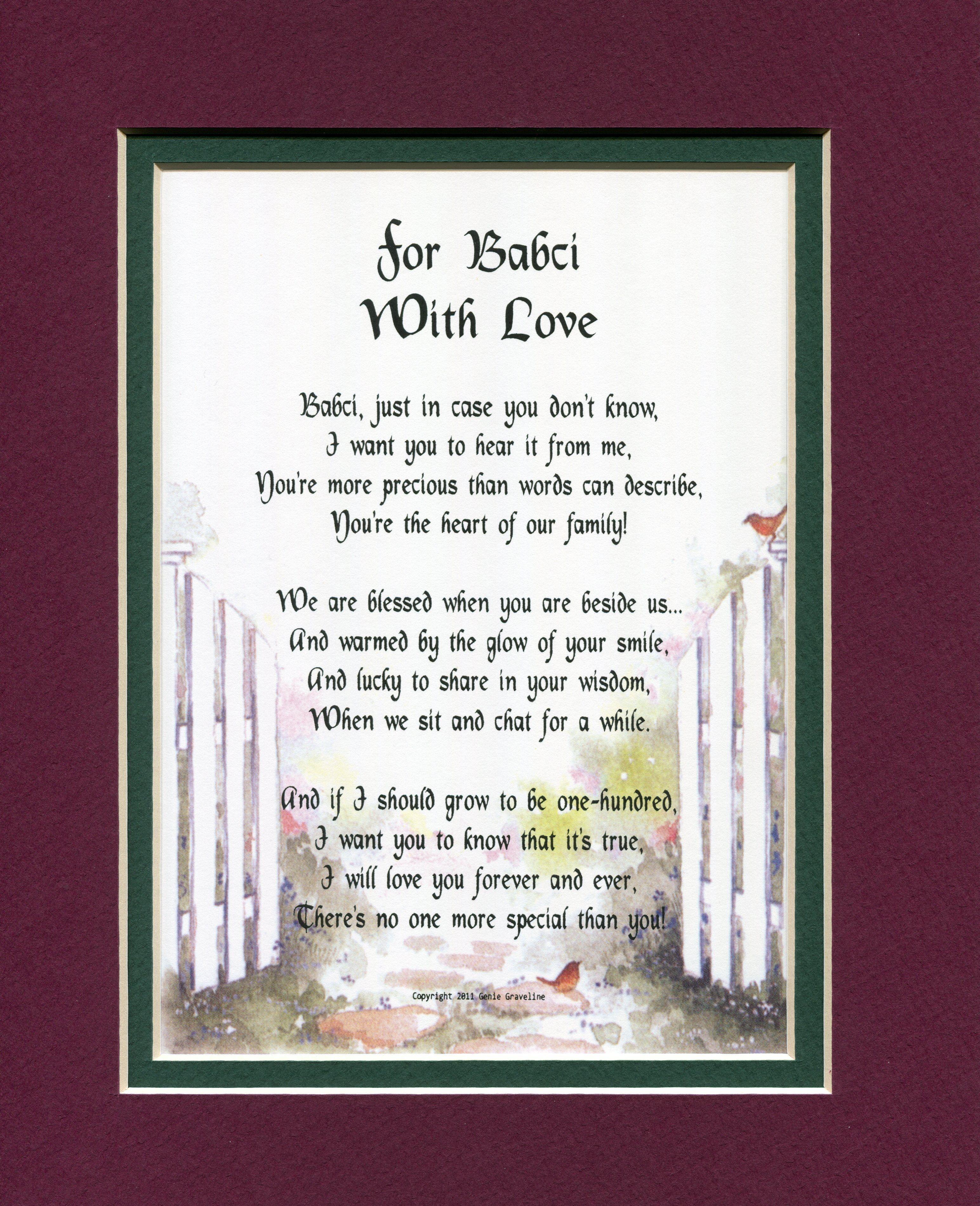 Grandparents Poems - Genie's Poetry