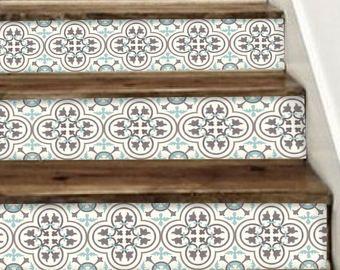 Riser Vinyl Streifen 15 Treppenstufen Entfernbare Aufkleber Peel U0026 Stick:  M300