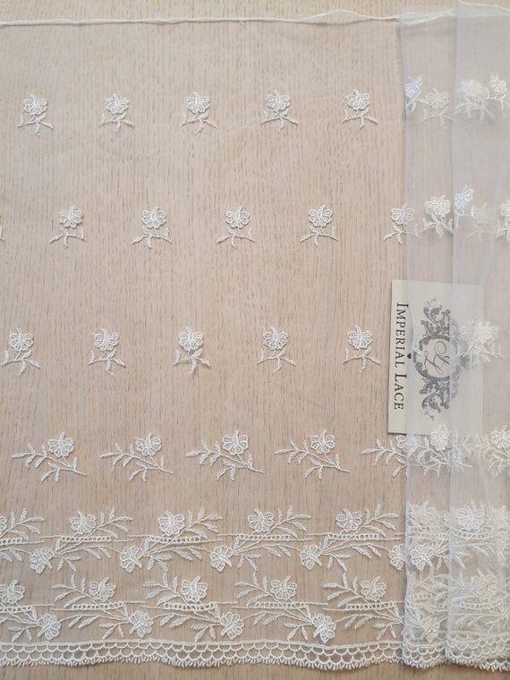 Photo of Elfenbein-Spitzenbesatz am Hof, französische Spitze, Chantilly-Spitze, Brautkleid-Spitze, Hochzeitsspitze, weiße Spitze, Schleier-Spitze, Dessous-Spitze, MB00288