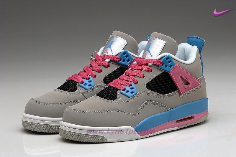 ce49e0d055a9f Donna Grigio Rosa Blu AIR JORDAN 4 RETRO negozi scarpe online ...