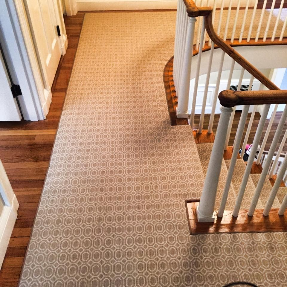 Replacing Carpet With A Stair Runner: Check Out This Custom Stanton Carpet Stair Runner That We
