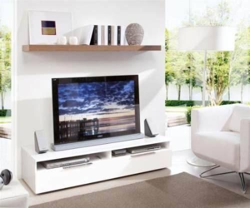 Mesa lcd led dvd 2 cajones mas estante flotante mi tv relax pinterest mesas and shelves - Libreros de madera modernos ...