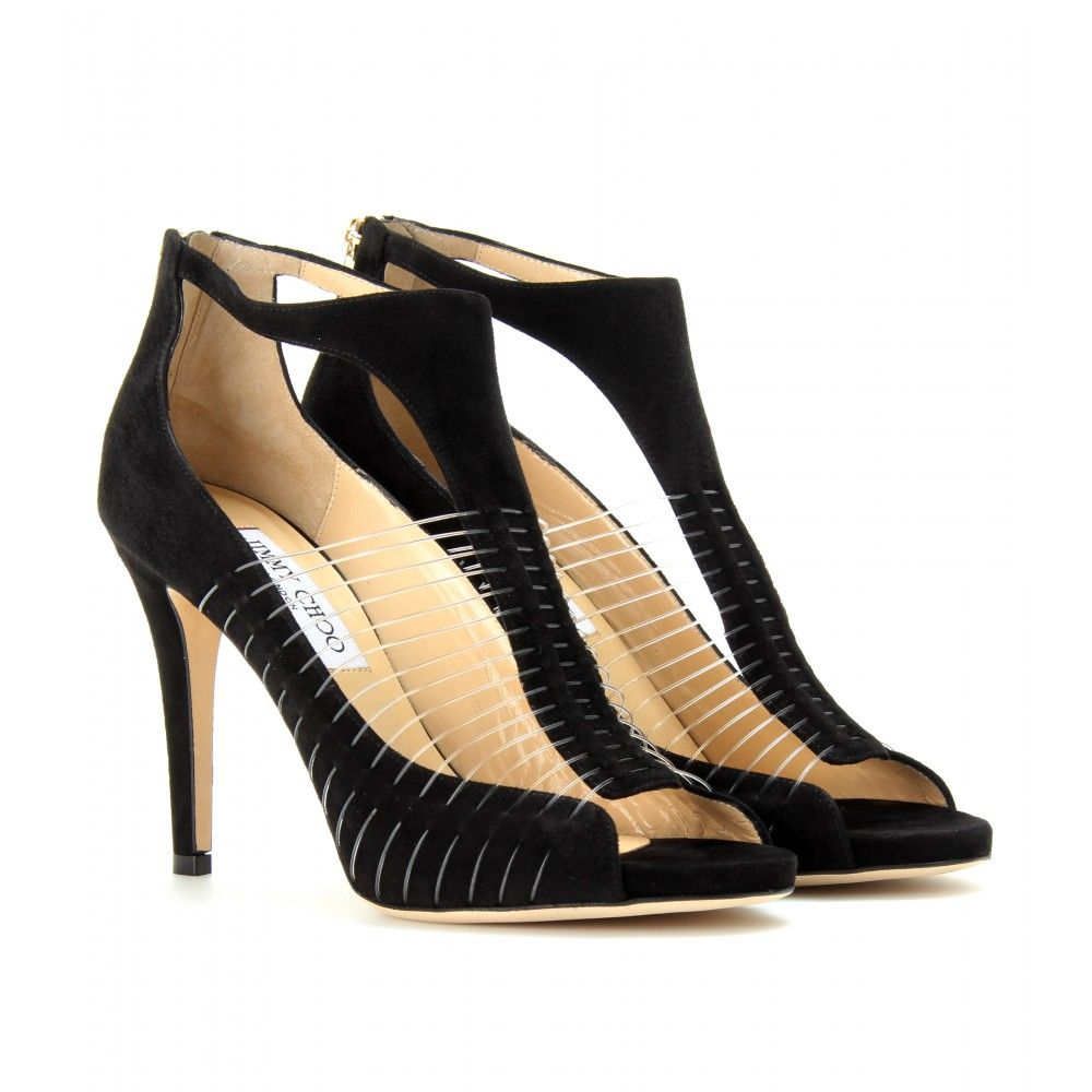 c32bfc94fe7 mytheresa.com - Jimmy Choo - TIME SUEDE PEEP-TOE PUMPS - Luxury Fashion for  Women   Designer clothing