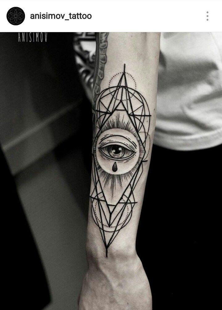 Geometric Eye Tattoo : geometric, tattoo, Tattoo, Ideais/refs, Geometric, Tattoo,, Seeing, Sleeve, Tattoos