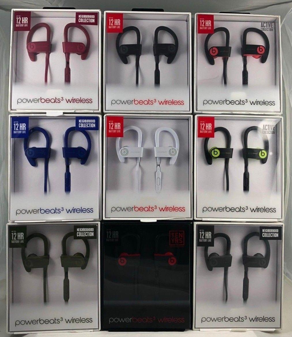 Details About Authentic Beats By Dr Dre Powerbeats3 Wireless In Ear Headphones Wireless In Ear Headphones White Wireless Headphones In Ear Headphones
